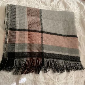 Express Cozy Pink Plaid Blanket Scarf
